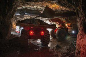 camión de carga minero
